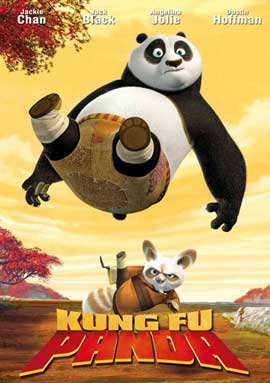Kung Fu Panda - 27 x 40 Movie Poster - Style D