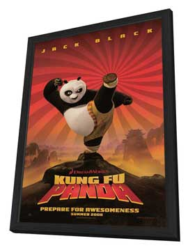 Kung Fu Panda - 11 x 17 Movie Poster - Style A - in Deluxe Wood Frame