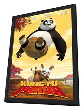 Kung Fu Panda - 11 x 17 Movie Poster - Style D - in Deluxe Wood Frame