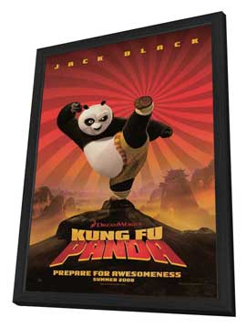 Kung Fu Panda - 27 x 40 Movie Poster - Style A - in Deluxe Wood Frame