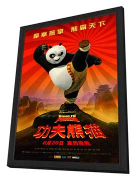 Kung Fu Panda - 27 x 40 Movie Poster - Chinese Style A - in Deluxe Wood Frame
