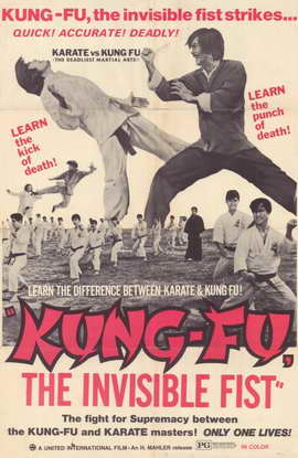 Kung Fu: The Invisible Fist - 11 x 17 Movie Poster - Style A