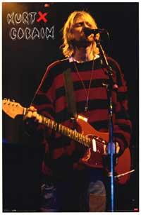 Kurt Cobain - Music Poster - 22 x 34 - Style B