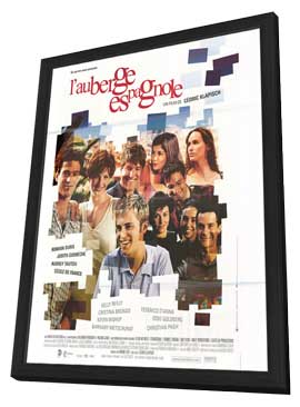 L' Auberge Espagnole - 11 x 17 Movie Poster - French Style A - in Deluxe Wood Frame
