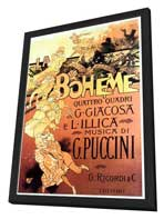 La Boheme - 11 x 17 Movie Poster - Italian Style A - in Deluxe Wood Frame