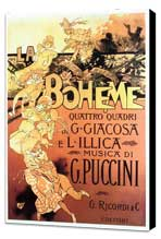 La Boheme - 11 x 17 Movie Poster - Italian Style A - Museum Wrapped Canvas