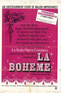 La Boheme - 27 x 40 Movie Poster - Style A