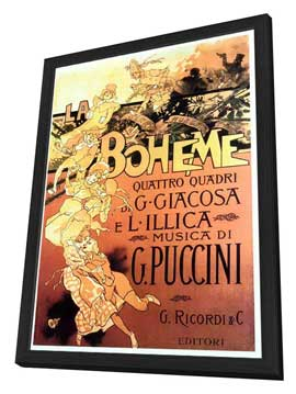 La Boheme - 27 x 40 Movie Poster - Italian Style A - in Deluxe Wood Frame