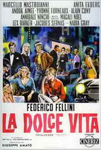 La Dolce Vita - 27 x 40 Movie Poster - Italian Style C