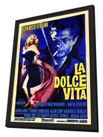La Dolce Vita - 11 x 17 Poster - Foreign - Style A - in Deluxe Wood Frame