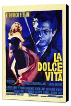 La Dolce Vita - 27 x 40 Movie Poster - Italian Style A - Museum Wrapped Canvas