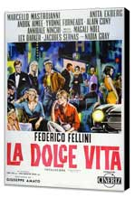 La Dolce Vita - 27 x 40 Movie Poster - Italian Style C - Museum Wrapped Canvas
