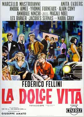 La Dolce Vita - 11 x 17 Movie Poster - Italian Style B