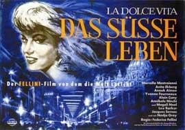La Dolce Vita - 11 x 17 Movie Poster - German Style A