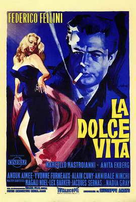 La Dolce Vita - 27 x 40 Movie Poster - Italian Style A