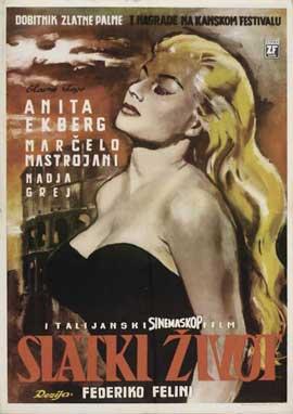 La Dolce Vita - 11 x 17 Movie Poster - Russian Style A