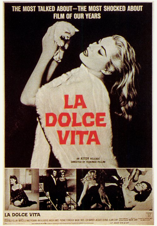 la dolce vita movie posters from movie poster shop. Black Bedroom Furniture Sets. Home Design Ideas