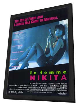 La Femme Nikita - 11 x 17 Movie Poster - Style A - in Deluxe Wood Frame