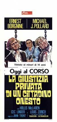 la giustizia privata di un cittadino onesto - 13 x 28 Movie Poster - Italian Style A