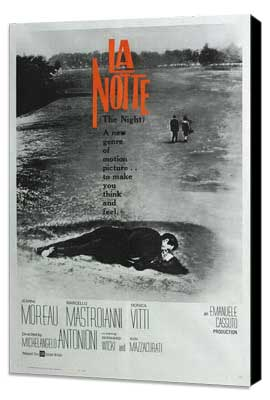 La Notte - 27 x 40 Movie Poster - French Style A - Museum Wrapped Canvas