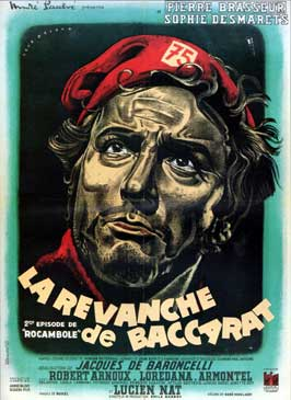 La revanche de Baccarat - 27 x 40 Movie Poster - French Style A
