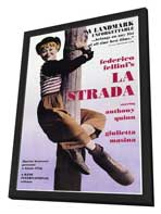 La Strada - 27 x 40 Movie Poster - Style A - in Deluxe Wood Frame