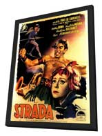 La Strada - 27 x 40 Movie Poster - Italian Style A - in Deluxe Wood Frame