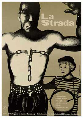 La Strada - 11 x 17 Movie Poster - German Style B