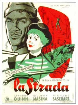 La Strada - 11 x 17 Movie Poster - French Style A