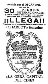 La Strada - 11 x 17 Movie Poster - Spanish Style B
