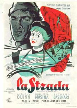 La Strada - 11 x 17 Movie Poster - Danish Style A