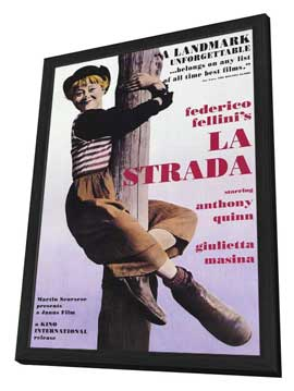 La Strada - 11 x 17 Movie Poster - Style C - in Deluxe Wood Frame