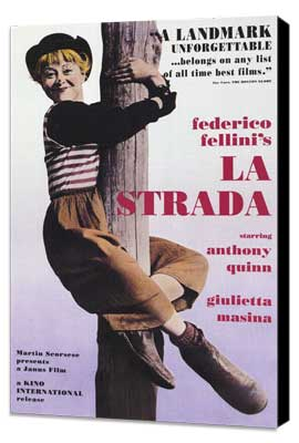 La Strada - 11 x 17 Movie Poster - Style C - Museum Wrapped Canvas