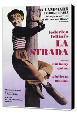 La Strada - 27 x 40 Movie Poster - Style A - Museum Wrapped Canvas