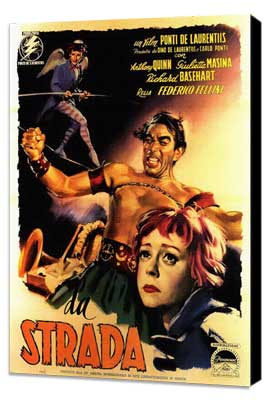 La Strada - 27 x 40 Movie Poster - Italian Style A - Museum Wrapped Canvas
