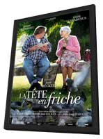 La tete en friche - 11 x 17 Movie Poster - French Style A - in Deluxe Wood Frame