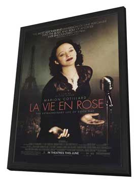 La Vie En Rose - 27 x 40 Movie Poster - Style A - in Deluxe Wood Frame