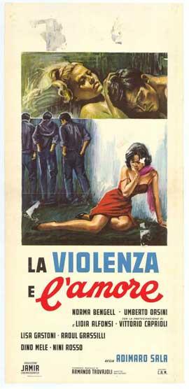 La Violenza E L'Amore - 27 x 40 Movie Poster - Italian Style A