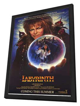 Labyrinth - 11 x 17 Movie Poster - Style B - in Deluxe Wood Frame