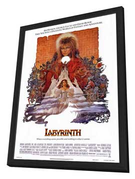 Labyrinth - 27 x 40 Movie Poster - Style A - in Deluxe Wood Frame