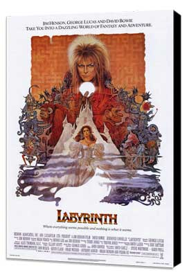 Labyrinth - 11 x 17 Movie Poster - Style A - Museum Wrapped Canvas