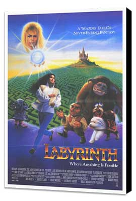 Labyrinth - 27 x 40 Movie Poster - Style B - Museum Wrapped Canvas
