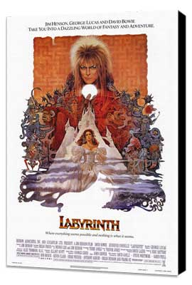 Labyrinth - 27 x 40 Movie Poster - Style A - Museum Wrapped Canvas