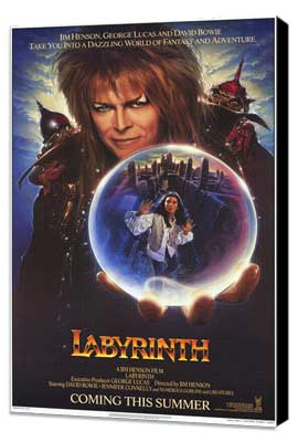 Labyrinth - 27 x 40 Movie Poster - Style C - Museum Wrapped Canvas