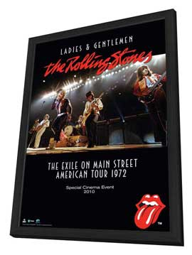 Ladies and Gentlemen: The Rolling Stones - 11 x 17 Movie Poster - Style A - in Deluxe Wood Frame