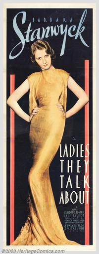 Ladies They Talk About - 20 x 60 - Door Movie Poster - Style A