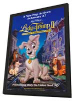 Lady and the Tramp II - 11 x 17 Movie Poster - Style A - in Deluxe Wood Frame