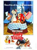 Lady and the Tramp - 11 x 17 Movie Poster - Style F