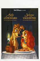 Lady and the Tramp - 11 x 17 Movie Poster - Belgian Style A