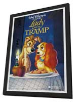 Lady and the Tramp - 27 x 40 Movie Poster - Style I - in Deluxe Wood Frame